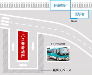 暫定駅前広場発着所